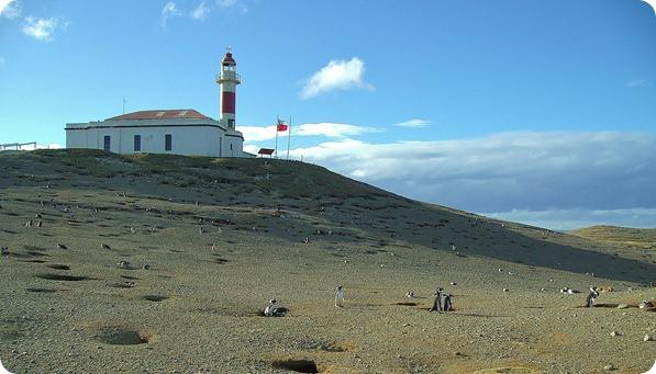 Vista do Farol na Ilha Magdalena