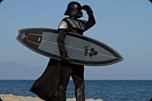 darth vader surfboard