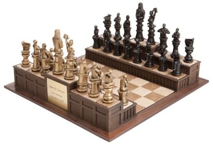 Lawyer chess set