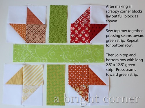 scrappy New England block tutorial