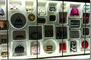 Could anything be better than a wall of LV bags for a bag store like HHH