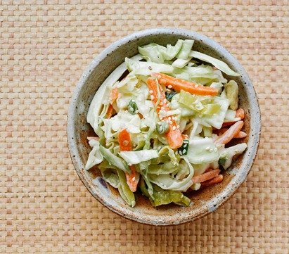 Spicy Coleslaw and Tahini from The Simple Veganista
