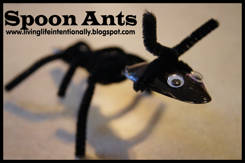 Simple Spoon Ant Craft for Kids