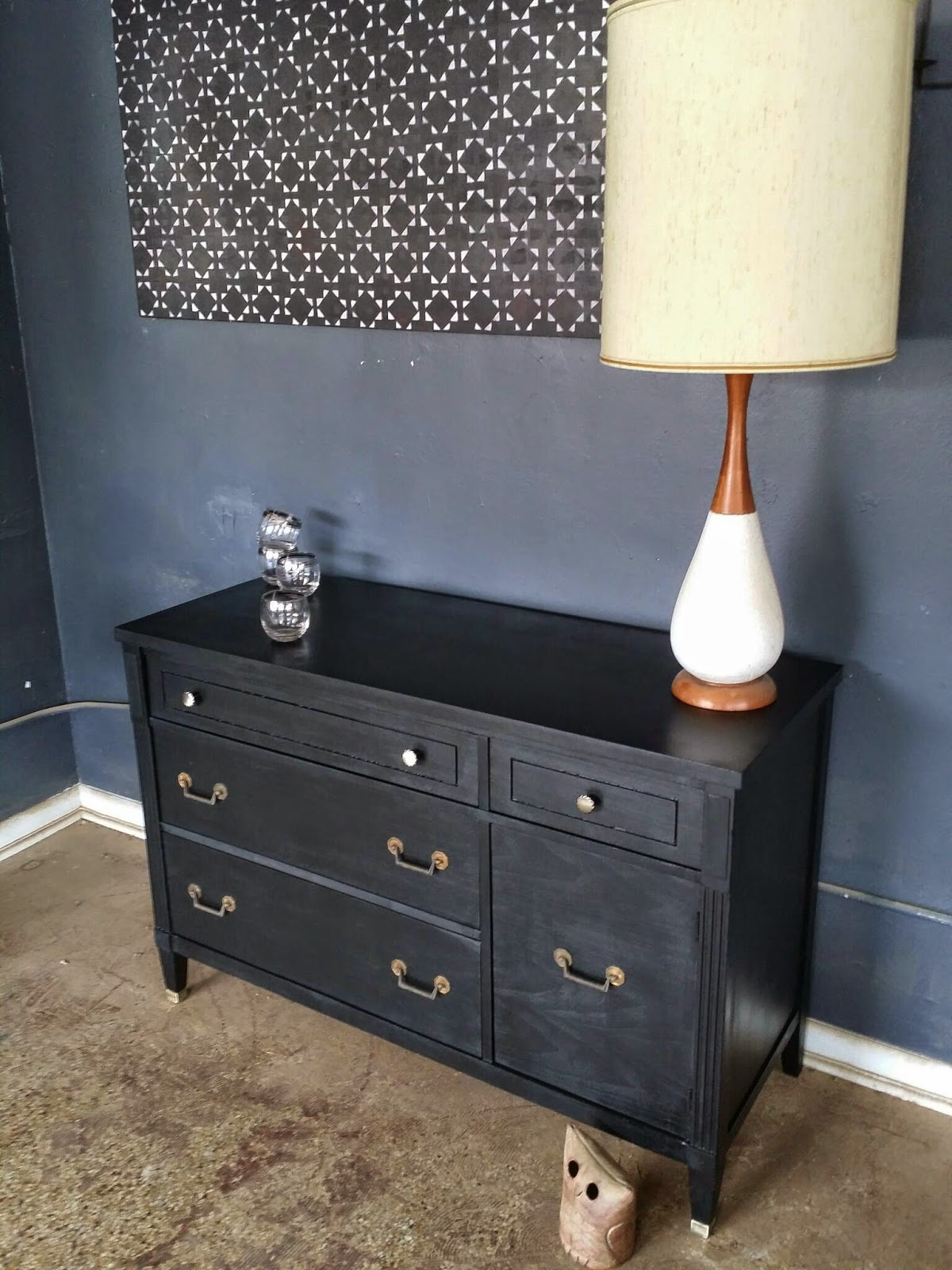 ... In A Sleek Black That Looks Great With The Original Hardware. Perfect  To Use As A Media Console Buffet Credenza Changing Table Sideboard Or Bar.