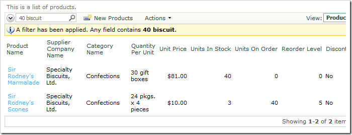 Search results for '40 biscuit' in Products grid view