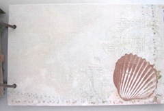 Beach journal mat board front cockle shell page