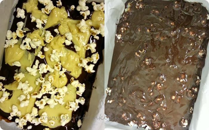 Salted caramel popcorn brownies recipe