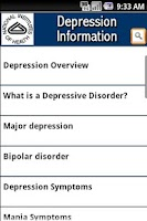 Screenshot of NIH Depression Information