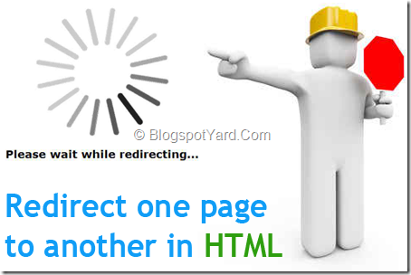 redirect one page to another automatically in html