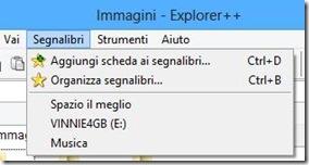 Explorer++ Aggiungi scheda ai segnalibri