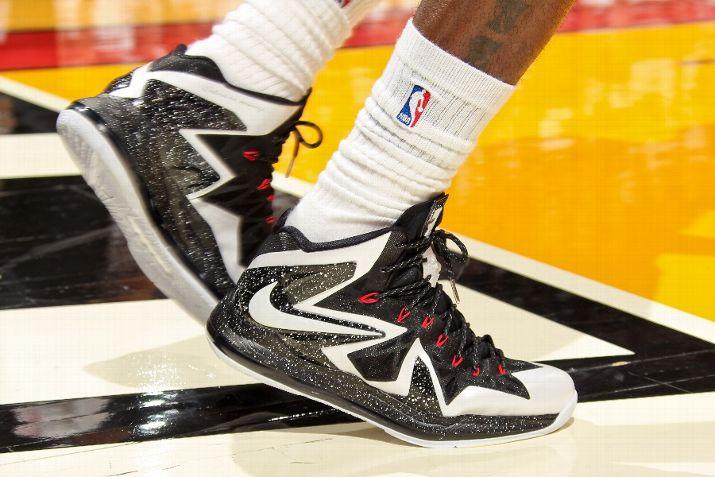 Nike LeBron 10 PS Elite Game 1 PE White Black