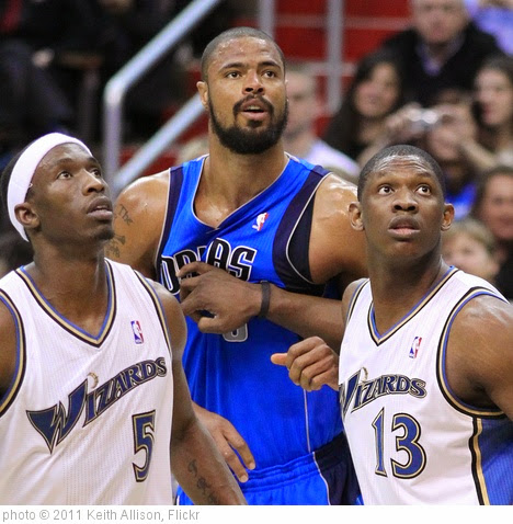 'Josh Howard, Tyson Chandler and Kevin Seraphin' photo (c) 2011, Keith Allison - license: https://creativecommons.org/licenses/by-sa/2.0/
