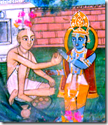 [Offering to Krishna]