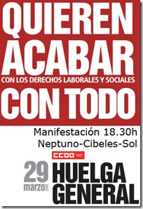 Cartel A2 Huelga General 29M