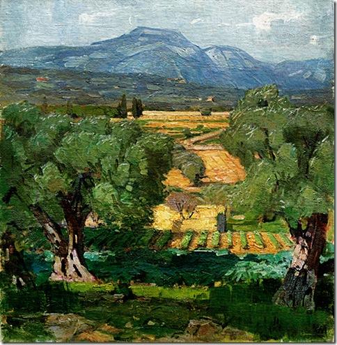 Carl Moll_1931_Tuscany Near Volterra