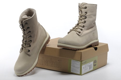 Womens Timberland 8-Inch Boots Gray