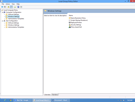 Windows 8 Edit Group Policy