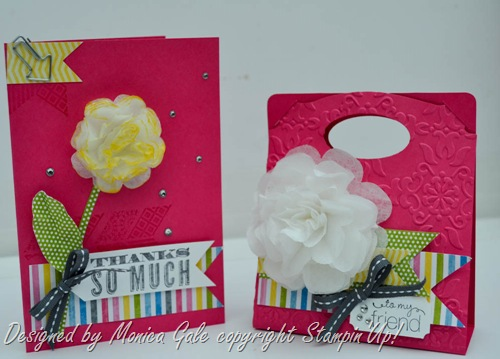 Oh hello, Stampin Up, Pop n Cuts gift bag