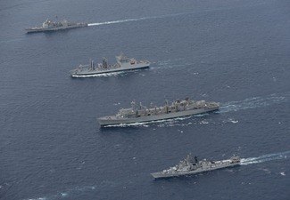Exercise Malabar 2012 between Indian Navy & the US Navy [Wallpaper]