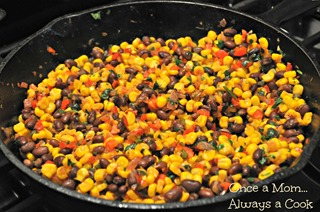 Warm Corn and Black Bean Salsa