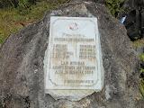 Tsunami memorial at the summit of Seulawah Agam (Dan Quinn, September 2013)