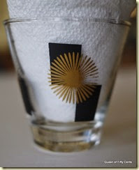 Starburst MCM shot glass