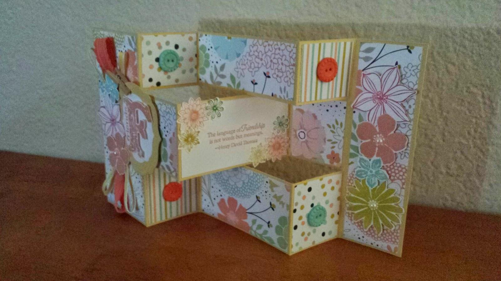All Things Creative: Sweet Sorbet Tri Fold Card