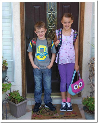 Sabrina and Levi first day of school