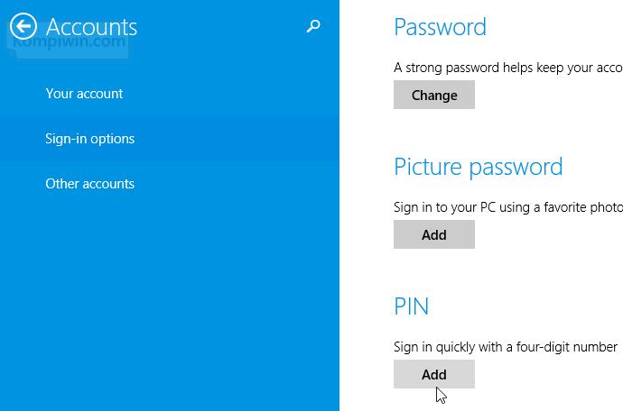cara melindungi password dengan membuat nomor pin saat booting signin 002