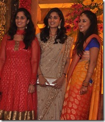 Shamili, Shalini at Mirchi Shiva Wedding Reception Photos