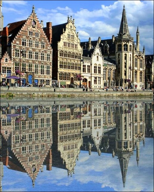 16. Ghent, Belgium reflection in water