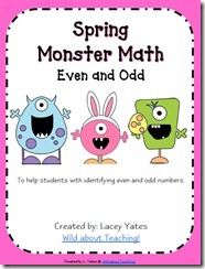 Monster Math Even and Odd