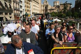 Plaza de la Rina, inicio calle de San Vicente. Valencia (España)