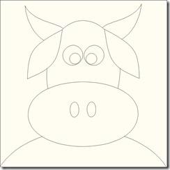 appliqued animals cow