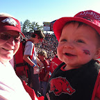 Spencer's First Razorback Game