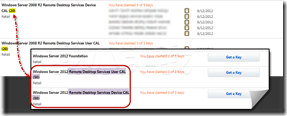 MSDN 提供 Remote Desktop Services 用戶端存取授權