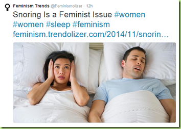 snoring a feminist issue