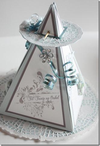 Dåpsinvitasjoner pyramide kort invitasjon baby blå IMG_1669