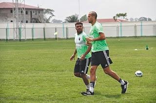 L'équipe nationale algérienne à Malabo