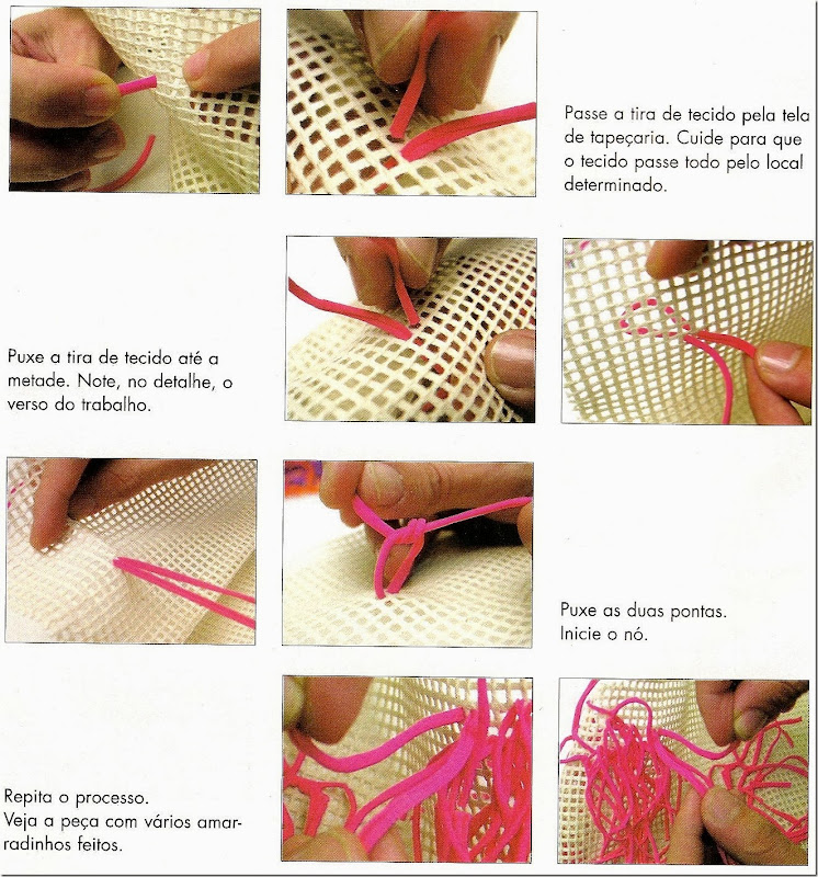 Como hacer bolsos de trapillo con rejilla enrhedando - Como hacer un bolso de trapillo ...