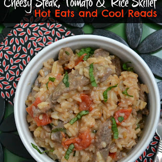 Cheesy Steak, Tomato and Rice Skillet Dinner