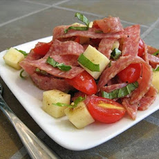 Salami Salad With Tomatoes and Mozzarella