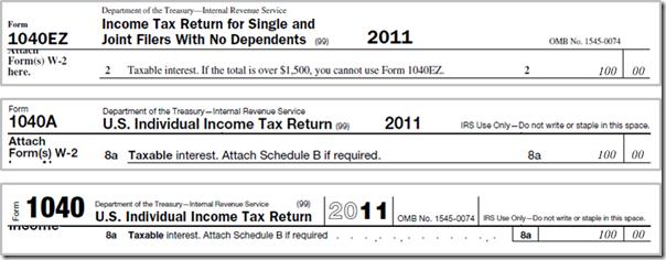 Taxes - 1040 1099-INT