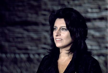"""Anna Magnani sul set del film di Federico Fellini """"Roma"""", 1972"""