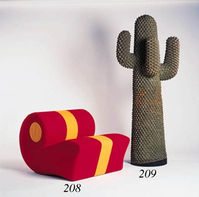 Chiocciola chair and Cactus clothes rack