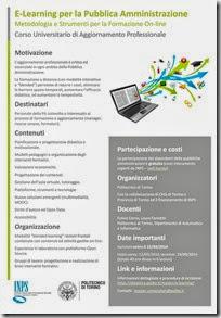 corso INPS - e-learning PA - Politecnico Torino