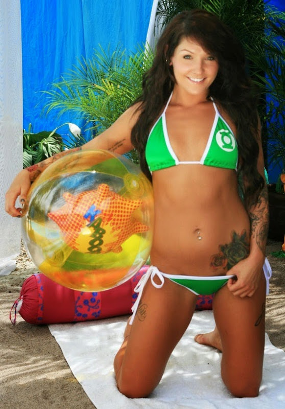 Green Lantern Bikini from Fit 2 B Tied Clothing