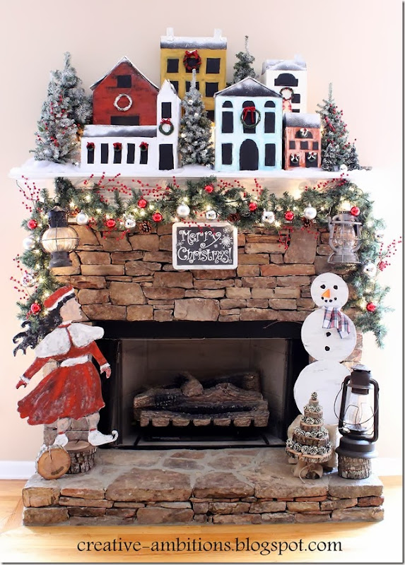 Creative Ambitions Christmas Mantel