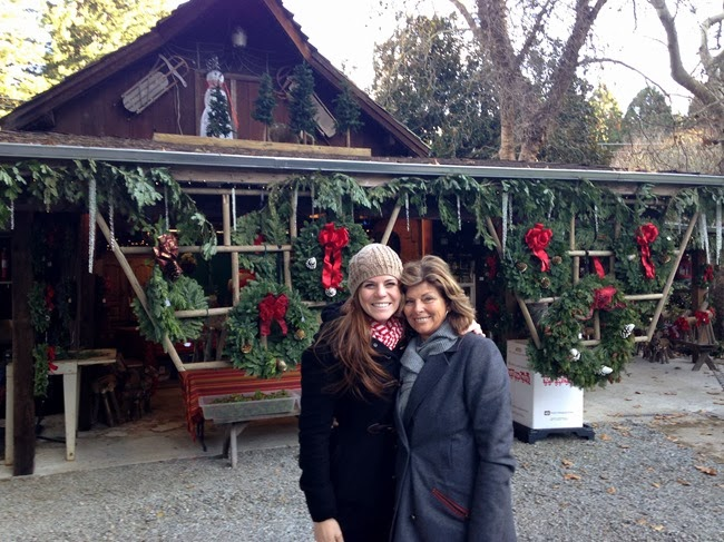on our way home to palo alto from carmel mom and i stopped at a christmas tree farm in the santa cruz mountains to chop one down for my house ive