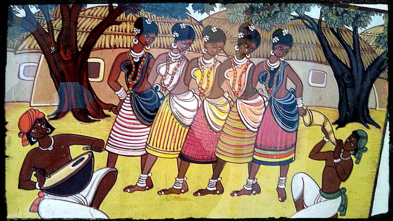 indian folk dance paintings